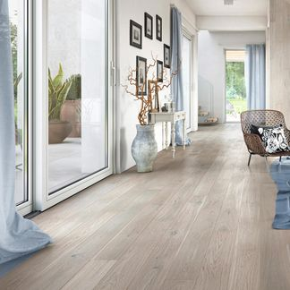 Mediano Washed Grey Oak Engineered Flooring 14mm x 155mm Lacquered