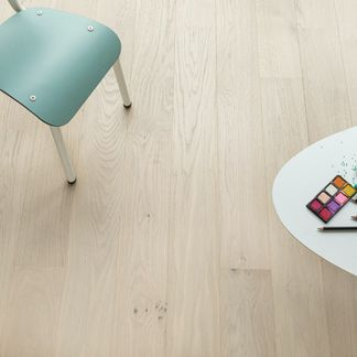 Natural French Albastre Oak Engineered Flooring 11mm x 130mm Lacquered