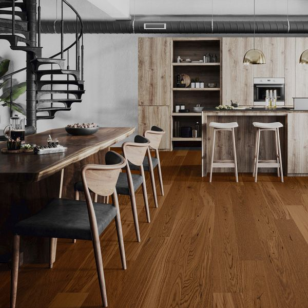 Mediano Mousse Oak Engineered Flooring 14mm x 155mm Lacquered